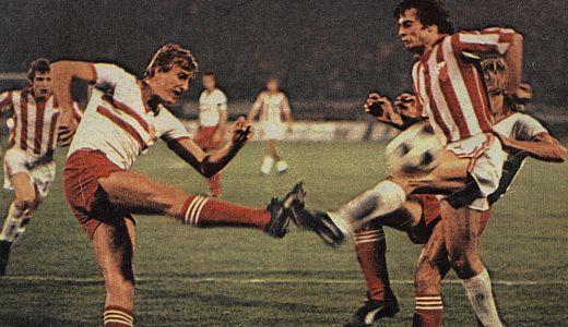 Detalj sa utakmice iz 1978. godine Zvezda - Hihon 1:1