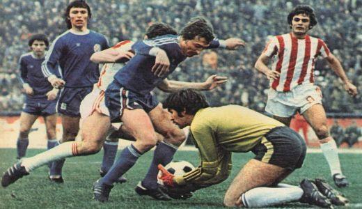 Detalj sa utakmice Zvezda - Dinamo iz 1977. godine