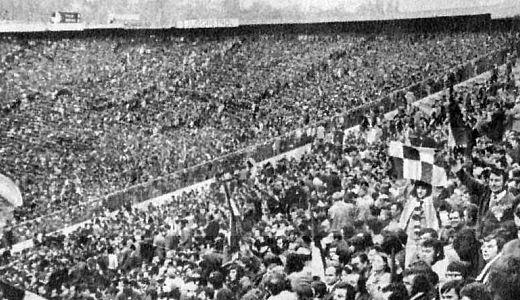 Rekordna poseta zabeležena je na utakmici Zvezda - Ferencvaroš 1975. godine