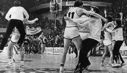 Slavlje košarkaša Partizana, pobednika Kupa Radivoja Koraća 1978. godine