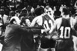 Radost košarkaša Jugoslavije zbog ulaska u finale Olimpijskih igara u Meksiku