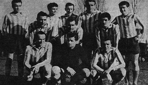 Ekipa Crvene zvezde. polufinalista Kupa evropskih šampiona 1956. godine