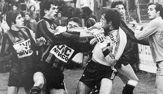 Fizički sukob Bjekovića i Olje Petrovića na utakmici Nica - Bastija 5:0