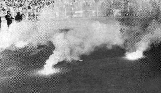 Bakljada na utakmici Dinamo (Bukurešt) - Partizan