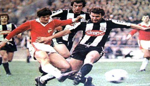 Detalj sa utakmice Zvezda - Partizan 3:0, odigrane 10. juna 1979. godine
