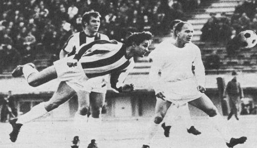 """Ilija Dimoski (beli dres) u utakmici sa Zvezdom na """"Marakani"""""""