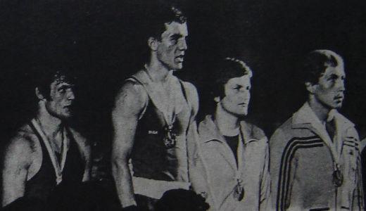 Sleva: Viktor Savčenko, Miodrag Perunović, Rostislav Ošićka i Markus Intlekofer na pobedničkom postolju