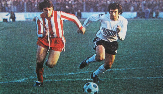Dušan Savić (levo, Zvezda) i Borislav Đurović (Partizan)