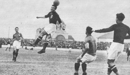 Detalj sa utakmice Jugoslavija - Mađarska 1:1, odigrane 23. marta 1941. godine