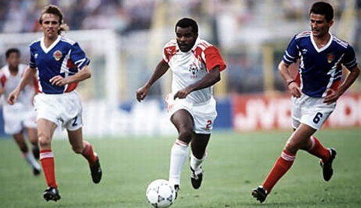 Detalj sa utakmice Jugoslavija - UAE (4:1), odigrane na SP-u 1990. godine u Italiji