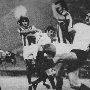 Detalj sa utakmice Zvezda - Partizan 1:0 (8. septembar 1973. godine)