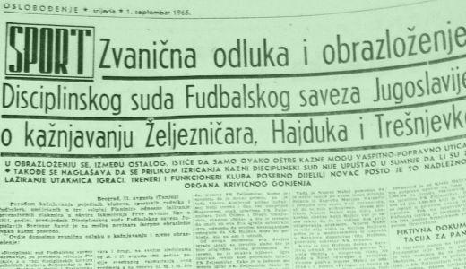 Afera koja je potresla jugoslovenski fudbal: Kazna