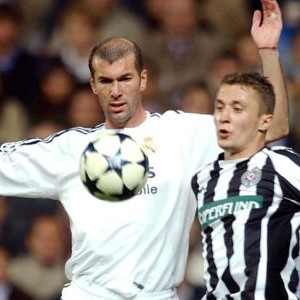 Zinedin Zidan i Saša Ilić na utakmici Real - Partizan 1:0