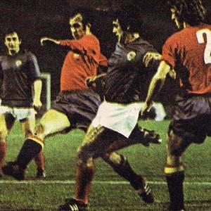 Sa utakmice Jugoslavija - Španija 1:0 u Frankfurtu