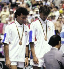 Dva Gorana - Prpić i Ivanišević, osvajači bronzane medalje u konkurenciji muških parova