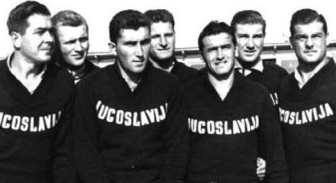 Vaterpolisti Veljko Bakašun, Zdravko Ježić, Boško Vuksanović, Zdravko-Ćiro Kovačić, Lovro Radonjić, Ivo Štakula i Ivica Kurtini