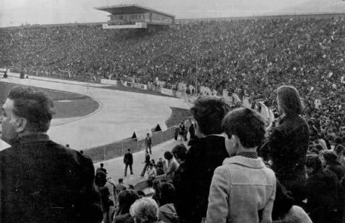 """Veličanstvena atmosfera na stadionu """"Koševo"""" pred početak meča (FOTO: fksarajevo.ba)"""