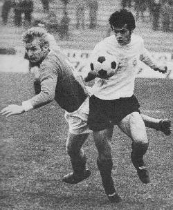 Duel Meha Karamehmedovića (levo, Vojvodina) i Nenada Bjekovića (Partizan)