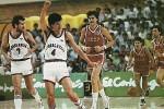 Detalj sa utakmice Jugoslavija - SSSR 90:91 na SP za košarkaše 1986. godine