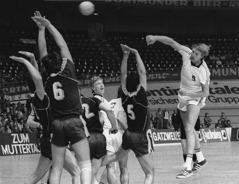 Detalj sa finalnog meča Kupa IFH iz 1982. godine Gumersbah - Željezničar (Sarajevo)