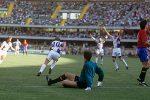 Piksi Stojković proslavlja prvi gol protiv Španije 1990. godine