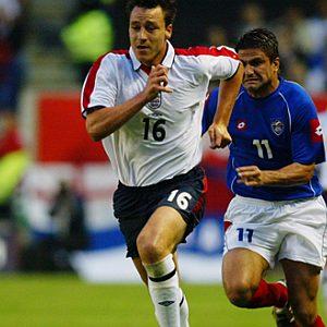 Džon Teri u utakmici sa Srbijom i Crnom Gorom, odigranoj 3. juna 2003. godine (FOTO: Ben Radford/Getty Images)