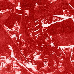 Ekstaza na tribinama stadiona Bilino polje tokom utakmice Čelik - Fiorentina