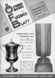 Naslovna strana programa koji je štampan povodom Zentropa kupa
