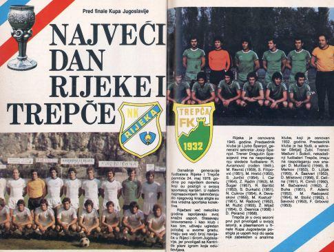 """Stranice revije """"GOOL!"""" koje najavljuju finale Kupa Jugoslavije 1978. godine"""