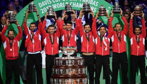 Teniska reprezentacija Hrvatske, šampion sveta 2018. godine (FOTO: AFP)