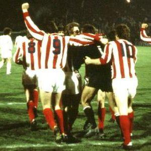 Radost fudbalera Zvezde nakon trijumfa nad madridskim Realom