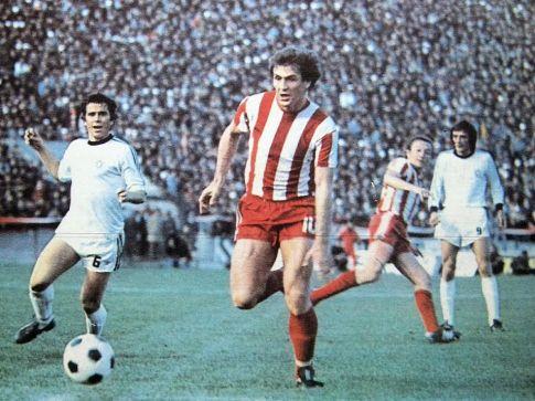 Crvena zvezda - Partizan 1:0 (sleva): Rešad Kunovac, Sead Sušić, Staja Nikolić i Pavle Grubješić