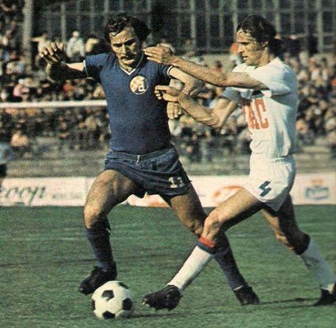 Vojvodina - Dinamo 3:0: Josip Lalić (levo, Dinamo) i Vladimir Trifunović (Vojvodina)