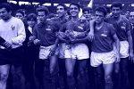 Slavlje igrača Francuske posle trijumfa nad Jugoslavijom