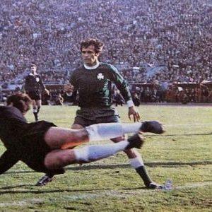 Detalj sa utakmice Crvena zvezda - Panatinaikos 4:1 iz aprila 1971. godine