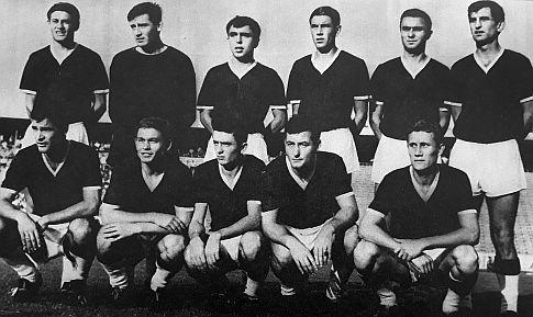 Ekipa Dinama na početku sezone u kojoj je osvojen Kup velesajamskih gradova