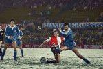 Detalj sa utakmice Fejenord - Radnički (Niš) 0:0 iz decembra 1981. godine