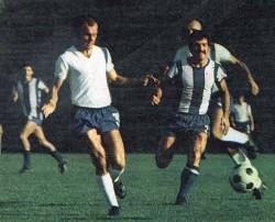 Rajko Folić (levo, Budućnost) i Bogdan-Bogi Turudija (OFK Beograd)