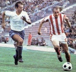 Šime Luketin (Hajduk) i Mihalj Keri (Zvezda)