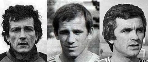 Sleva: Zlatko Maršalek, Veselin Zrilić i Milojko Kurčubić